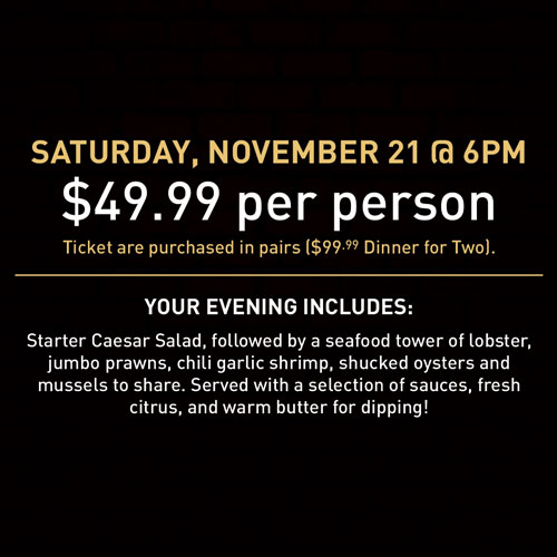 Seafood Tower Night Pricing